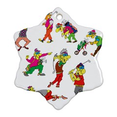 Golfers Athletes Ornament (snowflake)