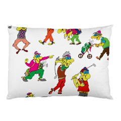 Golfers Athletes Pillow Case (two Sides)