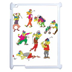 Golfers Athletes Apple Ipad 2 Case (white) by Nexatart