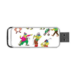 Golfers Athletes Portable Usb Flash (two Sides) by Nexatart