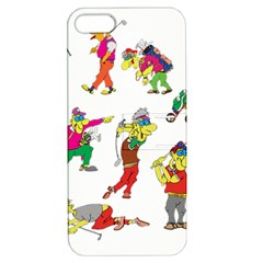 Golfers Athletes Apple Iphone 5 Hardshell Case With Stand by Nexatart