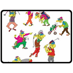 Golfers Athletes Double Sided Fleece Blanket (large)