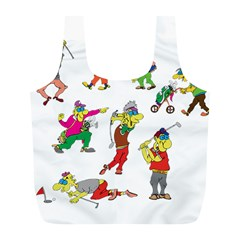 Golfers Athletes Full Print Recycle Bags (l)  by Nexatart