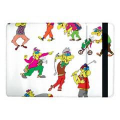 Golfers Athletes Samsung Galaxy Tab Pro 10 1  Flip Case by Nexatart