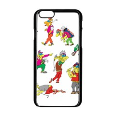 Golfers Athletes Apple Iphone 6/6s Black Enamel Case