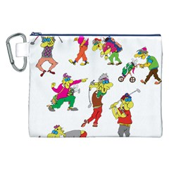 Golfers Athletes Canvas Cosmetic Bag (xxl) by Nexatart