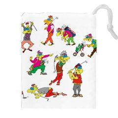 Golfers Athletes Drawstring Pouches (xxl) by Nexatart