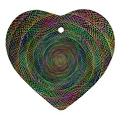 Spiral Spin Background Artwork Ornament (heart) by Nexatart