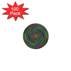 Spiral Spin Background Artwork 1  Mini Buttons (100 Pack)  by Nexatart