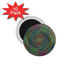 Spiral Spin Background Artwork 1 75  Magnets (10 Pack)  by Nexatart