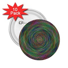 Spiral Spin Background Artwork 2 25  Buttons (10 Pack)