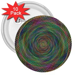 Spiral Spin Background Artwork 3  Buttons (10 Pack)