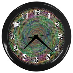 Spiral Spin Background Artwork Wall Clocks (black) by Nexatart
