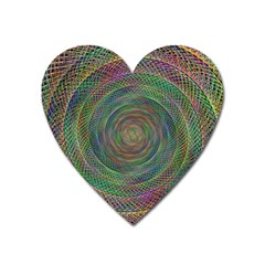Spiral Spin Background Artwork Heart Magnet by Nexatart