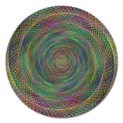 Spiral Spin Background Artwork Magnet 5  (round)