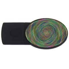 Spiral Spin Background Artwork Usb Flash Drive Oval (2 Gb)
