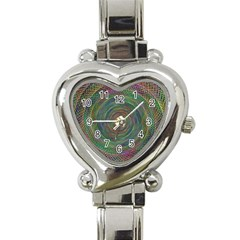Spiral Spin Background Artwork Heart Italian Charm Watch
