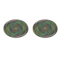 Spiral Spin Background Artwork Cufflinks (oval) by Nexatart