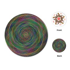Spiral Spin Background Artwork Playing Cards (round)  by Nexatart