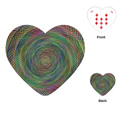 Spiral Spin Background Artwork Playing Cards (heart)  by Nexatart