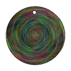 Spiral Spin Background Artwork Round Ornament (two Sides) by Nexatart