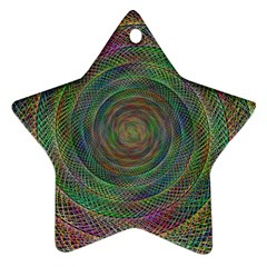 Spiral Spin Background Artwork Star Ornament (two Sides) by Nexatart