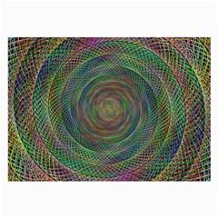 Spiral Spin Background Artwork Large Glasses Cloth (2 Side)