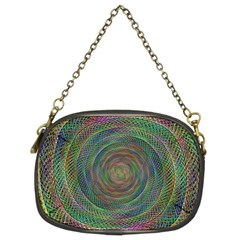 Spiral Spin Background Artwork Chain Purses (two Sides)  by Nexatart