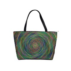 Spiral Spin Background Artwork Shoulder Handbags