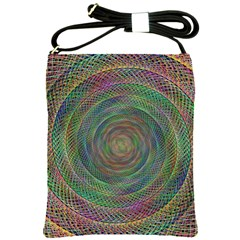 Spiral Spin Background Artwork Shoulder Sling Bags