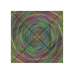 Spiral Spin Background Artwork Acrylic Tangram Puzzle (4  X 4 )