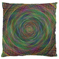 Spiral Spin Background Artwork Large Cushion Case (two Sides) by Nexatart