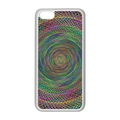 Spiral Spin Background Artwork Apple Iphone 5c Seamless Case (white)