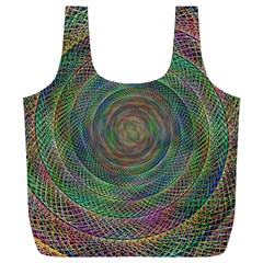 Spiral Spin Background Artwork Full Print Recycle Bags (l)
