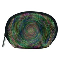 Spiral Spin Background Artwork Accessory Pouches (medium)  by Nexatart