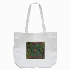Spiral Spin Background Artwork Tote Bag (white)