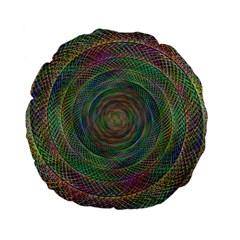 Spiral Spin Background Artwork Standard 15  Premium Flano Round Cushions