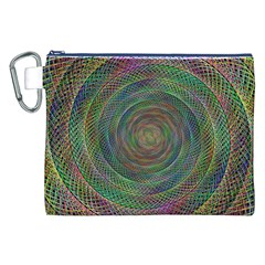 Spiral Spin Background Artwork Canvas Cosmetic Bag (xxl) by Nexatart