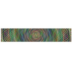 Spiral Spin Background Artwork Flano Scarf (large)