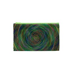 Spiral Spin Background Artwork Cosmetic Bag (xs)