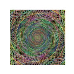 Spiral Spin Background Artwork Small Satin Scarf (square) by Nexatart