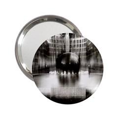 Black And White Hdr Spreebogen 2 25  Handbag Mirrors