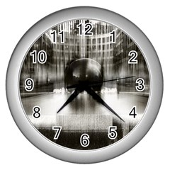 Black And White Hdr Spreebogen Wall Clocks (silver)