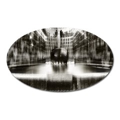 Black And White Hdr Spreebogen Oval Magnet by Nexatart