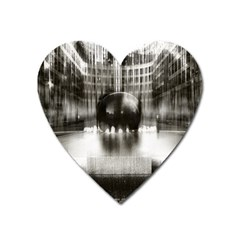 Black And White Hdr Spreebogen Heart Magnet by Nexatart