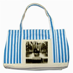 Black And White Hdr Spreebogen Striped Blue Tote Bag