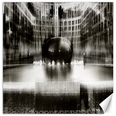 Black And White Hdr Spreebogen Canvas 16  X 16   by Nexatart