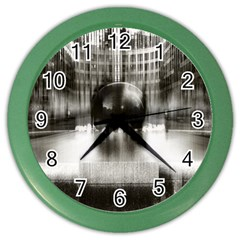 Black And White Hdr Spreebogen Color Wall Clocks