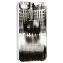 Black And White Hdr Spreebogen Apple Iphone 4/4s Seamless Case (white)