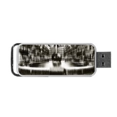 Black And White Hdr Spreebogen Portable Usb Flash (one Side)